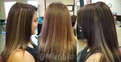 Dark Base and Length with Highlights in medium Shaft @MMillerStylist #MMillerStylist #xtremesalon #brokenarrow #hair