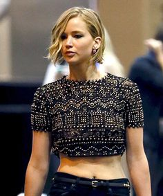 Jennifer Lawrence Supports Chris Martin at iHeartRadio Music Festival - Us Weekly
