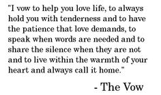 I'd love to use these vows