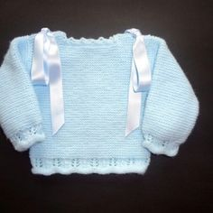Jersey lana azul y blanca. ref. Baby Knitting, Crochet, Sweaters, Color, Elba, Angeles, Fashion, Dress Set, Beret