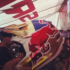 Troy Lee Designs D3 - Red Bull Brandon Semenuk Helmet for Crankworx 2012  http://www.facebook.com/photo.php?fbid=10150238625264987=a.55263889986.18165.54782609986=1
