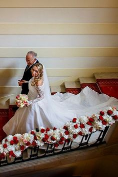 family wedding photos bride with father at the stairs raman el atiaoui