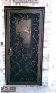 Iron Passion's wrought iron security screen door IP-SD-004