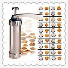 Biscuit Cookie Making Maker Pump Press Machine Cake Decor   20 Moulds 4 Nozzles * Remarkable product available now. : Bakeware