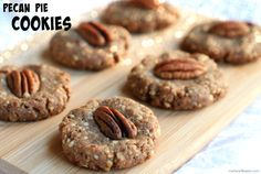 These pecan pie cookies are made with just three ingredients! They're sweet, salty, chewy and slightly crunchy.