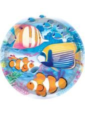 Tropical Summer Paper Lunch Plates 8ct - Party City, 9 inches wide