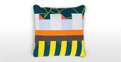 Verdon Cushion 45 x 45cm, Green and Yellow Mix | made.com