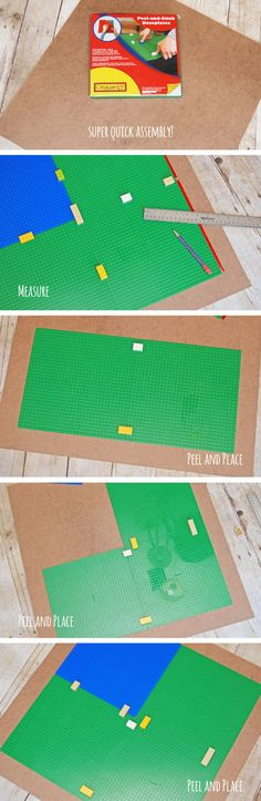 DIY Lego Table Assembly {OneCreativeMommy.com}