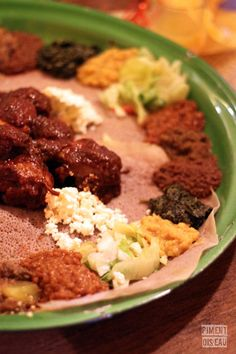 Ethiopian typical dishes