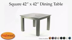 This square dining table can serve as an elegant focal point for your outdoor dining area.