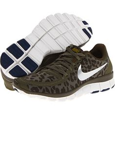 sale retailer 31f7a d6e1c Nike FREE 5.0 V4 RUNNING SNEAKERS - LEOPARD PRINT IN OLIVEDARK LODENBRAVE