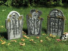 Halloween Grabsteine als dekoration für deine Halloweenparty                                                                                                                                                                                 Mehr