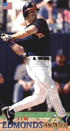 Angels Baseball, Baseball Cards, Jim Edmonds, Sports, Hs Sports, Sport