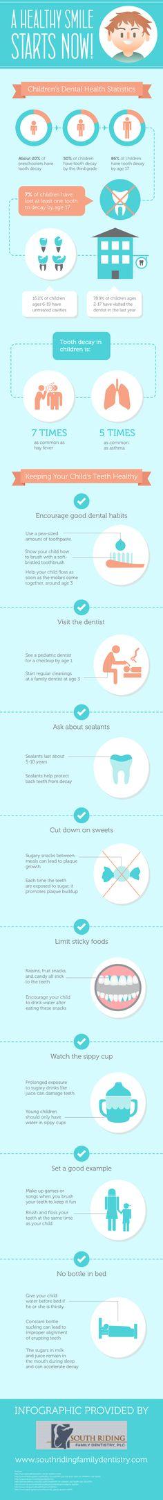 February is National Children's Dental Health Month. Teach your kids these healthy habits early, because a healthy smile starts now!