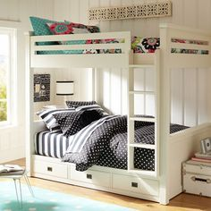 PB Teen Oxford Bunkbed - would be perfect for my girls!