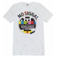 T-shirt donna bianca modello oversize con il no signal anni  80 . Perfetta 2b60fd4866eb