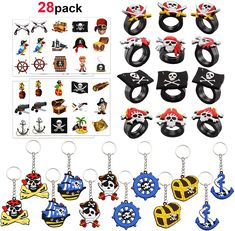 Perfect for a party bag filler,pirate themed gifts, pirate theme birthday party supplies, birthday party favours, Halloween to trick-or-treaters, goodie bags, Halloween handouts, Piñata Fillers, Halloween prizes and toys, school classroom rewards, stocking stuffer toys for Christmas, gparty giveaways, pocket buck etc. #piratethemed #partydecor #amazon #gentlemanpirateclub #partyflavors Pirate Party Supplies, Pirate Party Favors, Pirate Party Decorations, Party Favours, Birthday Bag, Pirate Birthday, Pirate Theme, Pirate Halloween Party, Halloween Party Costumes