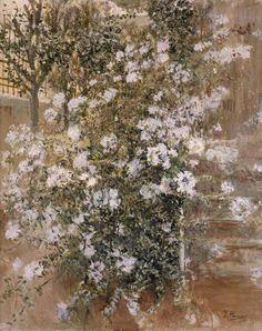 Ignacio Pinazo Camarlench  Corner of the Garden 1911  Museo de Bellas Artes de Valencia (Spain) Painting - oil on canvas