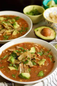 chicken tortilla soup from scratch | Brooklyn Homemaker
