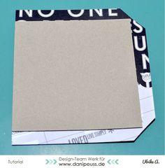 Minialbum mit Gummibindung für Inspirationenhefte   #MitmachMontag Tutorial von Ulrike Ahlers für www.danipeuss.de #minialbum #srapbooking #tutorial #danipeuss #diy