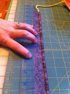 using chunky yarn for DIY cording for piping. Way cheaper. Would have never thought of that.
