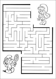 Jeu du labyrinthe à imprimer Mazes For Kids Printable, Free Printable Worksheets, Puzzles For Toddlers, Craft Activities For Kids, Times Table Chart, Mickey Coloring Pages, Alphabet Writing Practice, Maze Worksheet, Kindergarten Portfolio