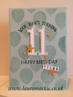 Stampin' Up!, Number of Years and Balloon Celebrations stamp sets; Large Numbers Framelits