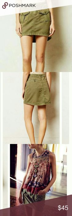 FLASH SALEAnthropologie twill skirt FLASH SALE PRICE IS FINAL! Adorable twill cargo skirt from Anthropologie by Marrakech. Perfect laid back counterpoint for your femme blouses. Skirt is in prestine condition as I wore this only once and inly for a couple of hours. Anthropologie Skirts Mini