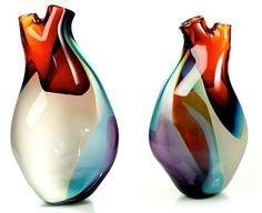vase en verre d'Eva Milinkovic
