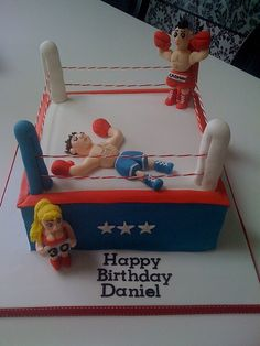 Boxing Ring Cake by Katies Cakes, via Flickr