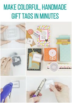 Make Colorful, Handmade Gift Tags in Minutes