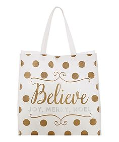 This Tote-Silver & Gold Believe - Set of Four by CB Gift is perfect! #zulilyfinds