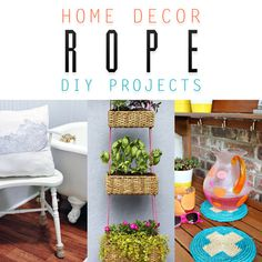 Are you ready for some Quick and Easy DIY Projects? If your answer is yes..then you have to check out our newest collection of Home Decor Rope DIY Projects!