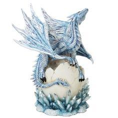 Dragon Hatchling On Crystal  Price $79.99  http://efairies.com/baby-dragon-egg-box/