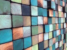 Arte de pared de madera madera reciclado arte madera
