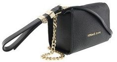 Versace Ee1vqbbp4 E899 Boxy Silhouette- Vintage Inspired Black Shoulder Bag.