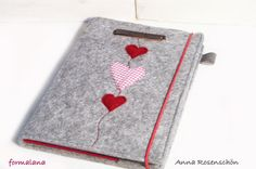 notebook cover personalized diary leather felt by MissWoolightly
