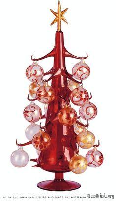 Murano glass art Christmas tree