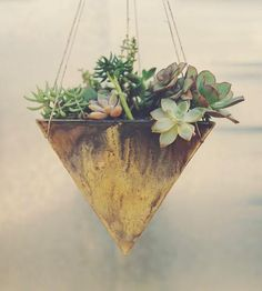 Grand Pyramid Ceramic Planter