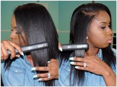Straighten your natural hair easy