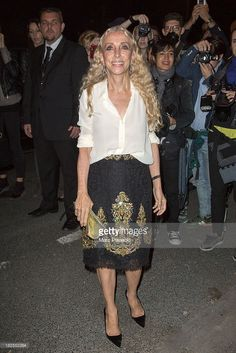 Franca Sozzani attends the Saint Laurent show as part of the Paris Fashion Week Womenswear Spring/Summer 2014 on September 30, 2013 in Paris, France.
