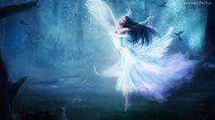 Kobieta, Anioł, Taniec, Las