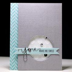 You Make Me Smile - Scrapbook.com - simply fabulous handmade card.