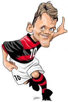 Dejan Petkovic by Baptistão Soccer Art, Football Soccer, Sports Clubs, Sports Art, Petkovic, Soccer World, Football Pictures, Football Players, Tigger