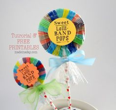 Hair Band Lollipops & Free Printable! - Made in a Day