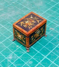 Artisan Chris Malcomson miniature marquetry sewing box | eBay