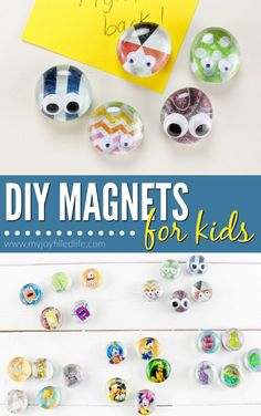 Cute diy magnets kids can make crafts for kids kids magnets, Crafts For Teens To Make, Diy For Teens, Projects For Kids, Craft Projects, Kids Diy, School Projects, Diy And Crafts Sewing, Easy Crafts, Hero Crafts