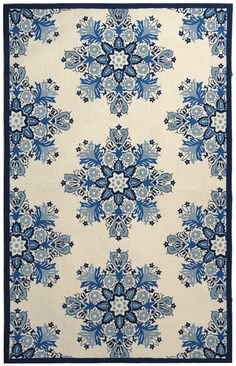 Safavieh Chelsea Ivory / Blue Oriental Rug - - Hooked Rugs - Area Rugs by Technique - Area Rugs Discount Area Rugs, Clearance Rugs, Rug Company, Stencil Patterns, Contemporary Area Rugs, Awesome Bedrooms, Joss And Main, Rug Hooking, Throw Rugs