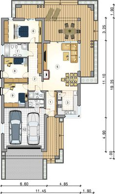 New House Plans, House Floor Plans, Good House, Tiny House, Modern Baths, Home Projects, New Homes, Cottage, Flooring
