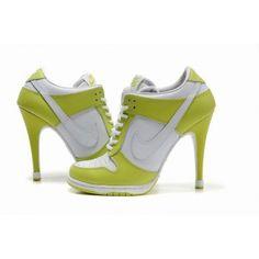 boutique Basket Nike A Talon Dunk High Pas Cher Blanc Vert Pour Femme